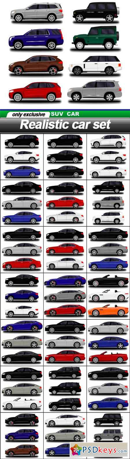 Realistic car set - 22 EPS