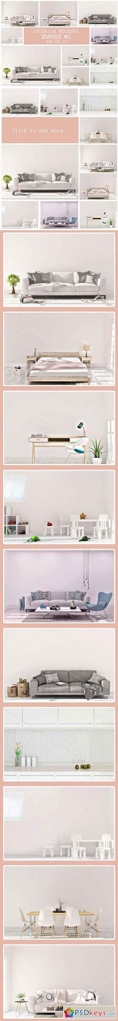Interior Mockups Bundle & Set of 10 872322