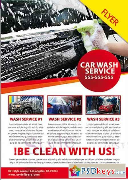 Car Wash Psd V Flyer Template  Free Download Photoshop Vector