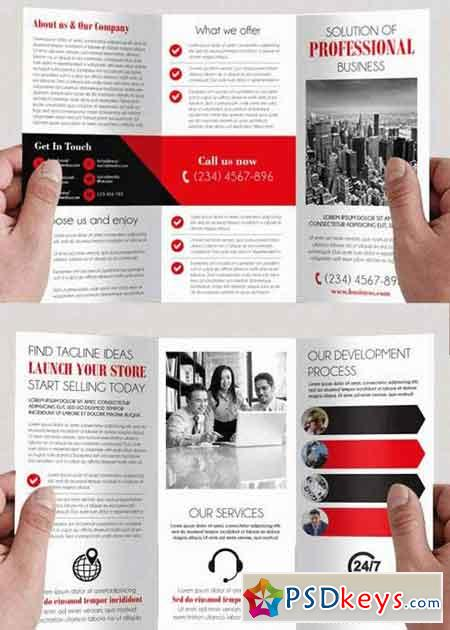 Simple v4 tri fold psd brochure template free download for Simple tri fold brochure template