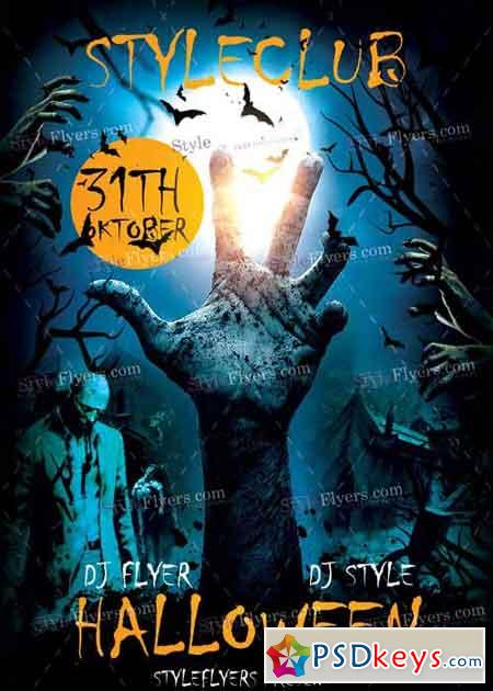 Halloween psd v2 flyer template free download photoshop vector stock image via torrent for Halloween psd