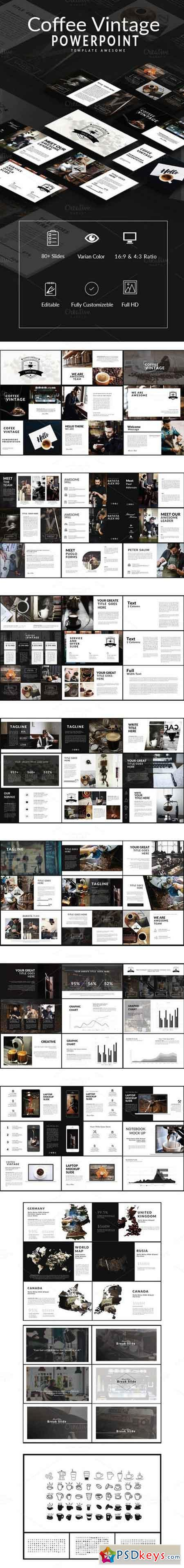 Coffee Vintage Powerpoint Template 874295 Free Download Photoshop