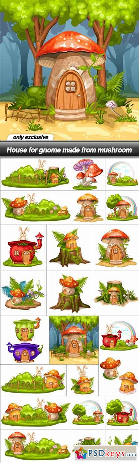House for gnome made from mushroom - 24 EPS