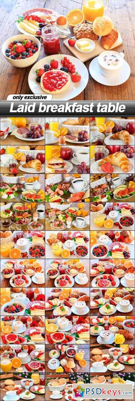 Laid breakfast table - 30 UHQ JPEG