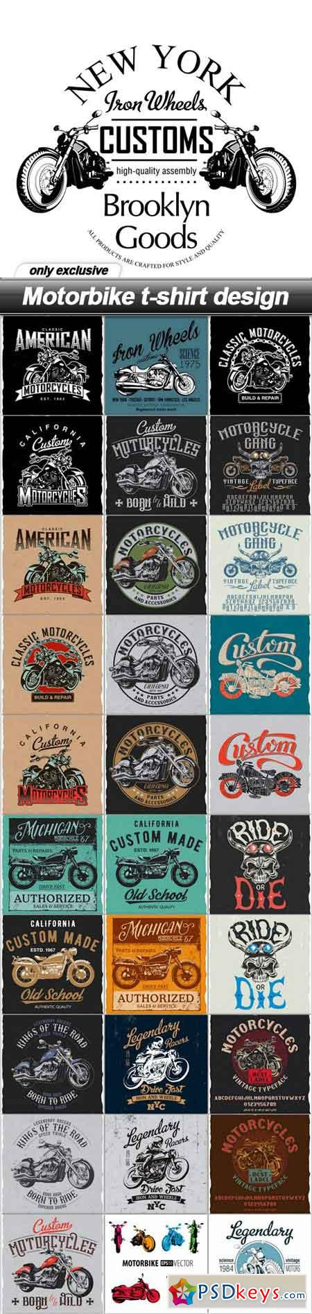 Shirt design eps - Motorbike T Shirt Design 31 Eps