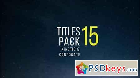 Kinetic & Corporate Simple Titles Pack - After Effects Projects