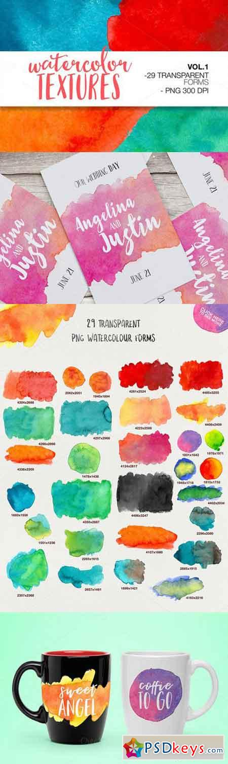 WATERCOLOR TEXSTURES VOL.1 866933