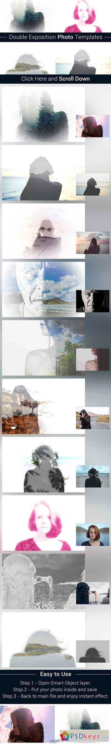 Double Exposition Photo Templates 900047