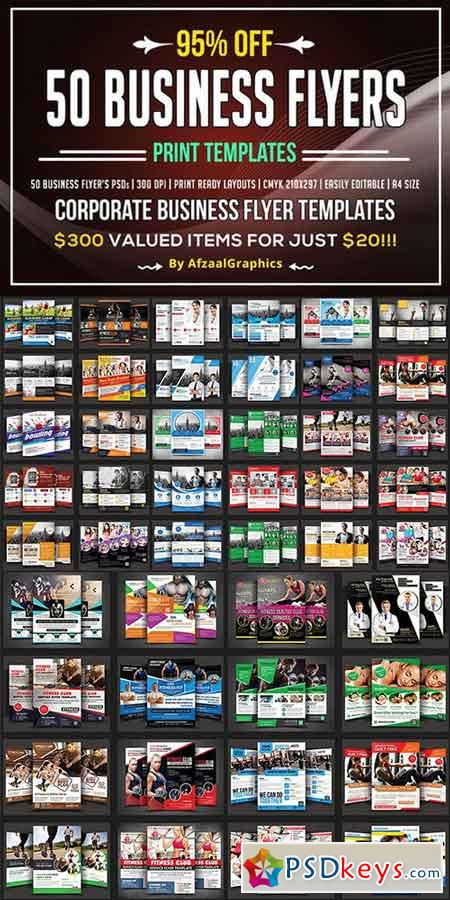 50 Corporate Business Flyers Bundle 896179