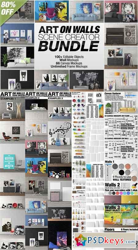 Art On Walls Scene Creator Bundle 886617