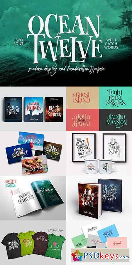 Ocean Twelve Font Duo + Extras 895633
