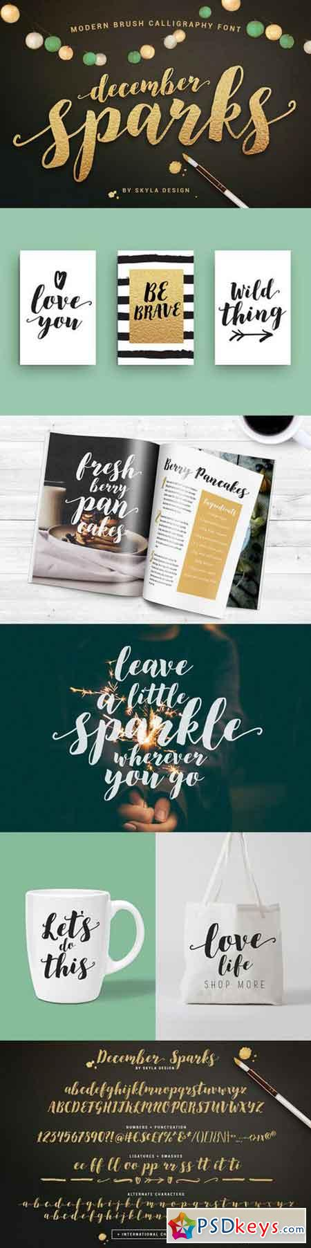 Modern brush font, December Sparks 878353
