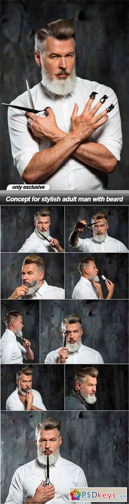 Concept for stylish adult man with beard - 10 UHQ JPEG