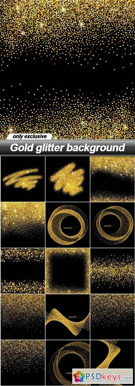 Gold glitter background - 16 EPS