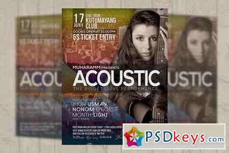 Acoustic Music Event Flyer Poster 608641