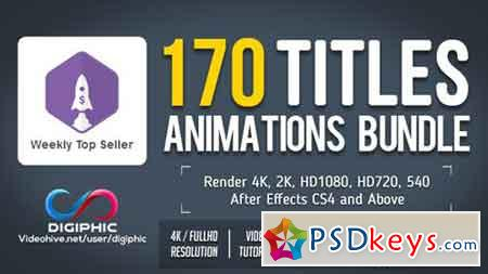 170 Titles Animations Bundle 16931322 - After Effects
