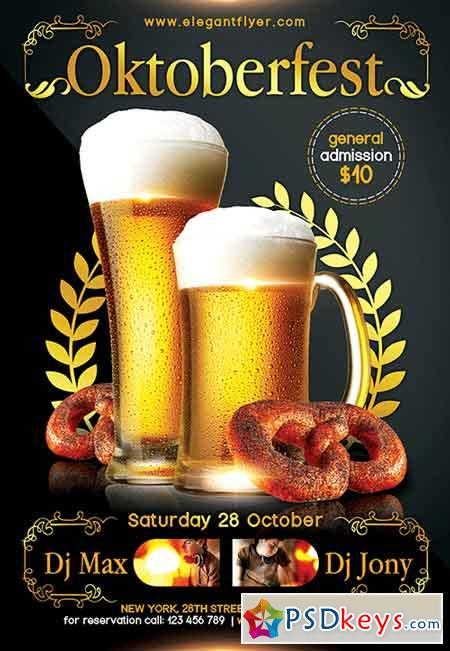 Oktoberfest 3 Flyer PSD Template + Facebook Cover