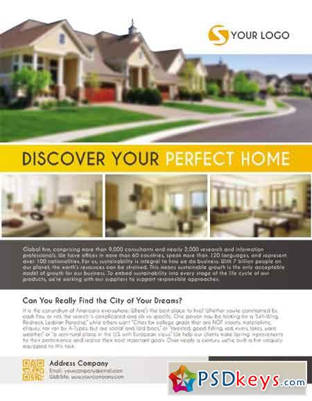 Real Estate Flyer PSD Template + Facebook Cover