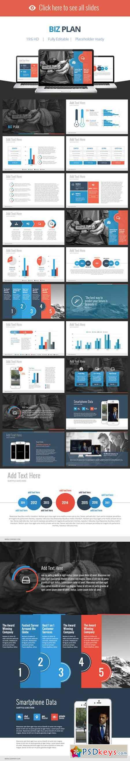 Biz Plan - Keynote Template 84329
