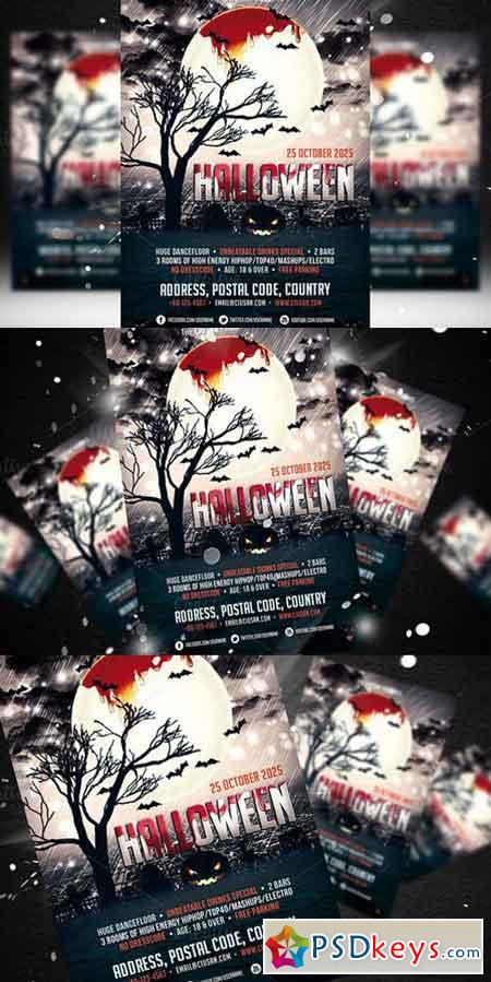 Halloween Flyer Template 2 353879