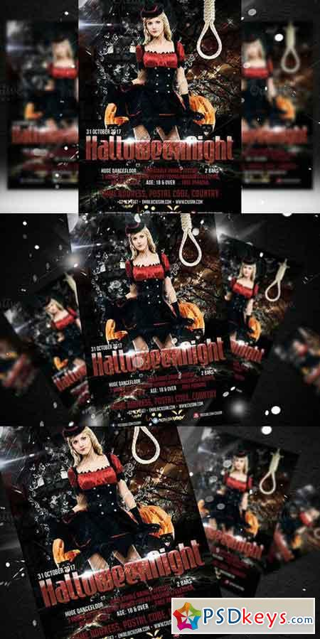 Halloween Night Flyer Template 352460