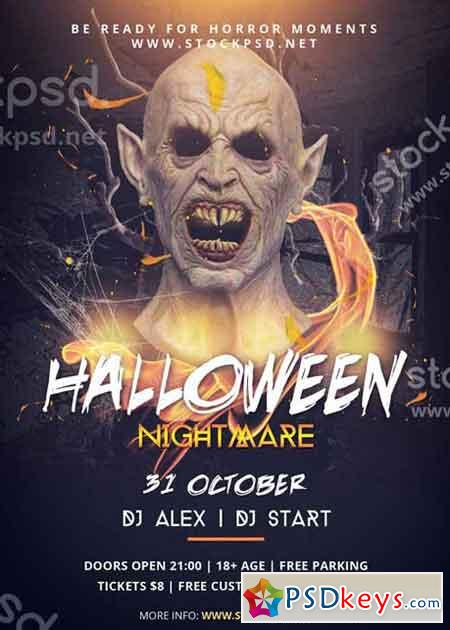 Halloween Nightmare V2 PSD Flyer