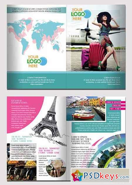 Travel V4 Bifold PSD Template