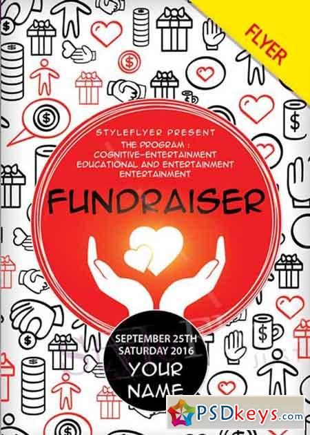 Fundraiser V2 PSD Flyer Template