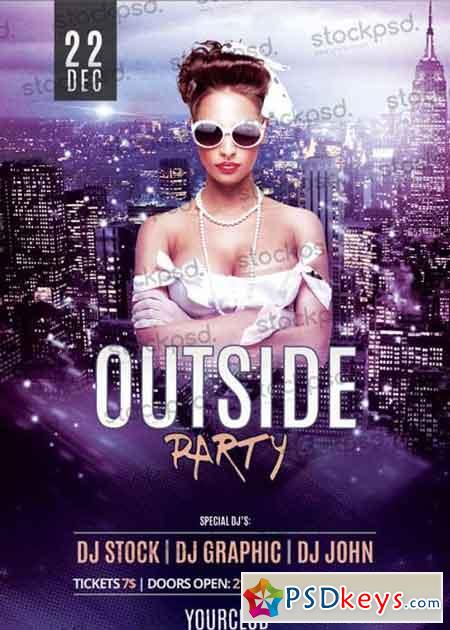 Outside Party V4 PSD Flyer