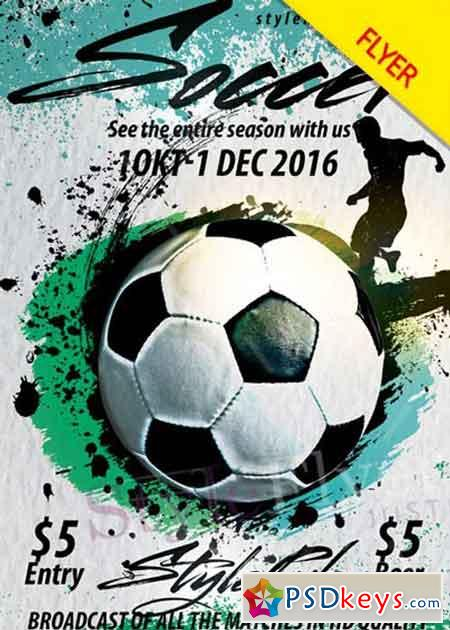 Soccer V Psd Flyer Template  Free Download Photoshop Vector