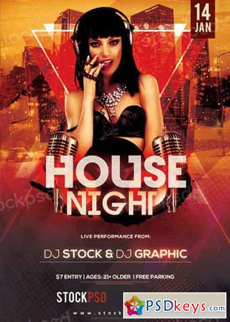 House Night V10 PSD Flyer