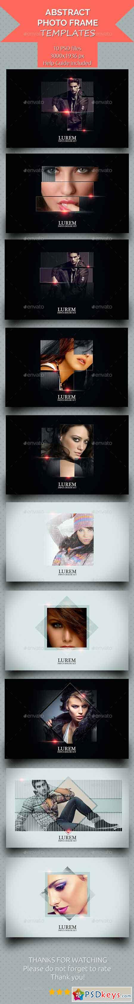 Abstract Photo Frame Templates V.2 16897247