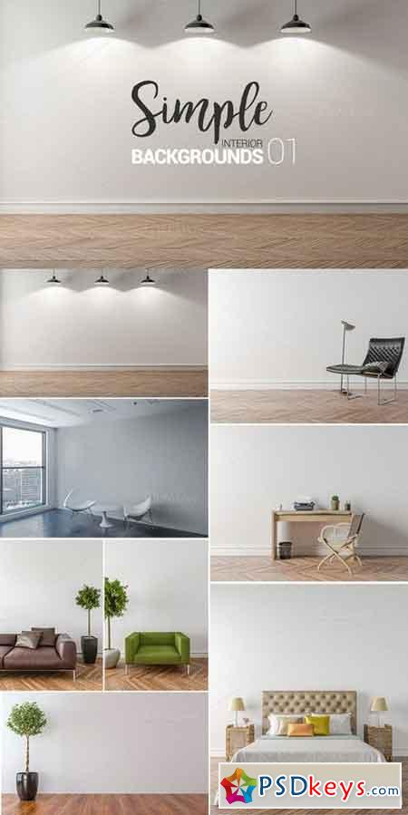 10 x Simple Interior Backgrounds -01 902250