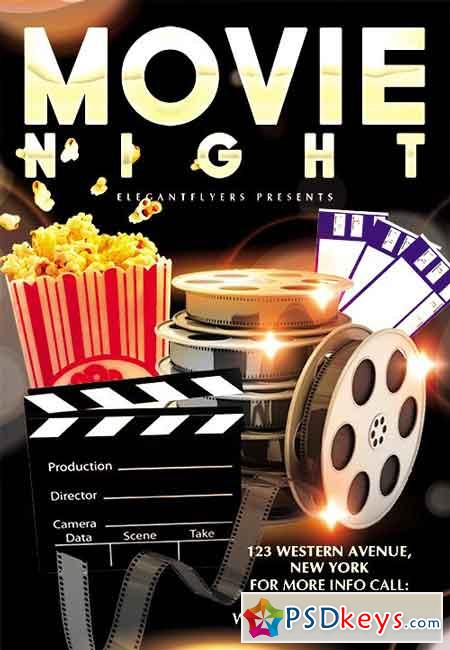 Movie Night Flyer Psd Template  Facebook Cover   Free Download
