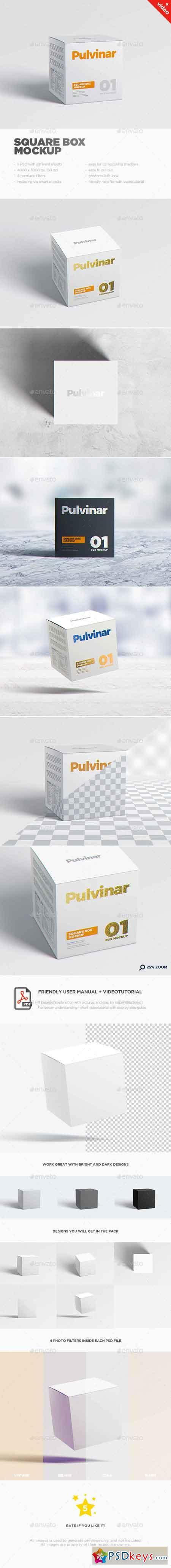 Box Packaging MockUp - Square 17626055 » Free Download Photoshop