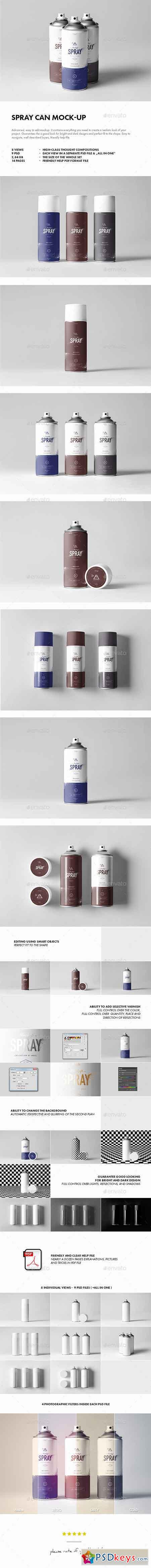 Spray Can Mock-up 17626758