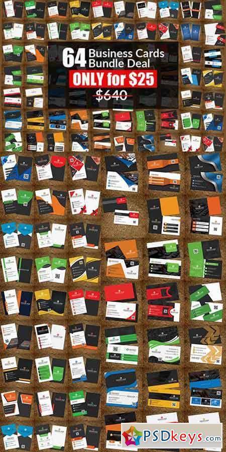 64 Business Card Templates Bundle 911090