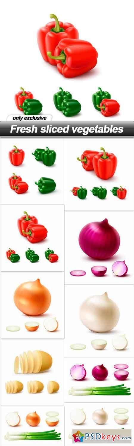 Fresh sliced vegetables - 10 EPS