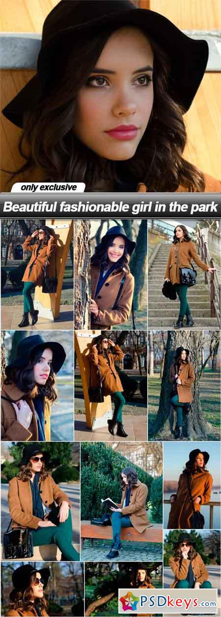 Beautiful fashionable girl in the park - 13 UHQ JPEG