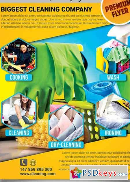 House Cleaning Flyer Psd V Template  Facebook Cover  Free