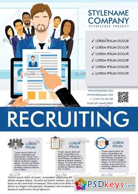 recruiting brochure template - recruiting v5 psd flyer template free download photoshop