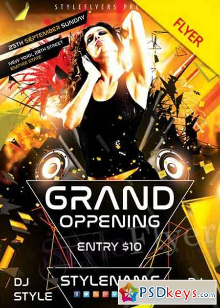 Grand Opening V11 Psd Flyer Template » Free Download Photoshop