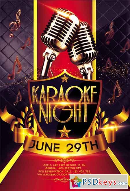 karaoke flyer psd template   facebook cover  u00bb free