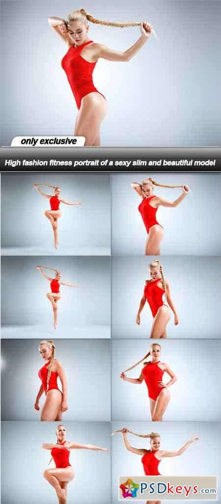 High fashion fitness portrait of a sexy slim and beautiful model - 8 UHQ JPEG