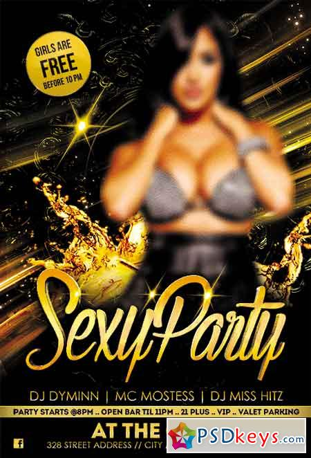 Sexy Party Flyer PSD Template + Facebook Cover