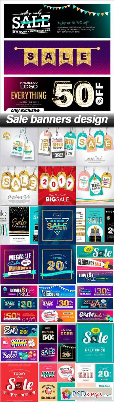 Sale banners design - 22 EPS