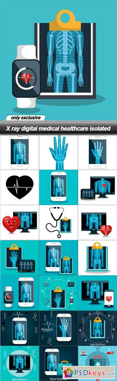 X ray digital medical healthcare isolated - 22 EPS