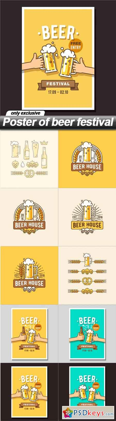 Poster of beer festival - 10 EPS