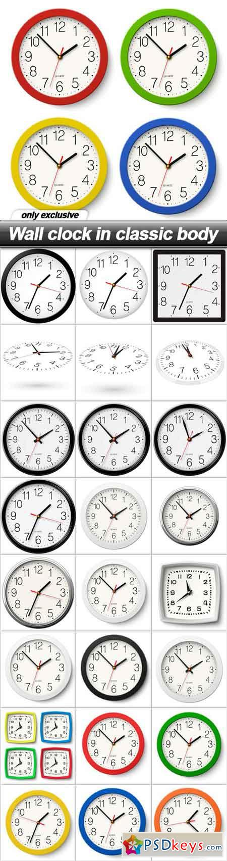 Wall clock in classic body - 25 EPS