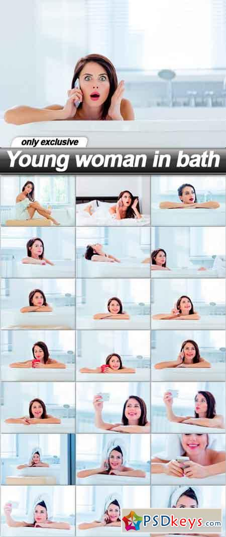 Young woman in bath - 22 UHQ JPEG